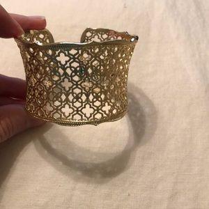 Kendra Scott gold Candice cuff bracelet